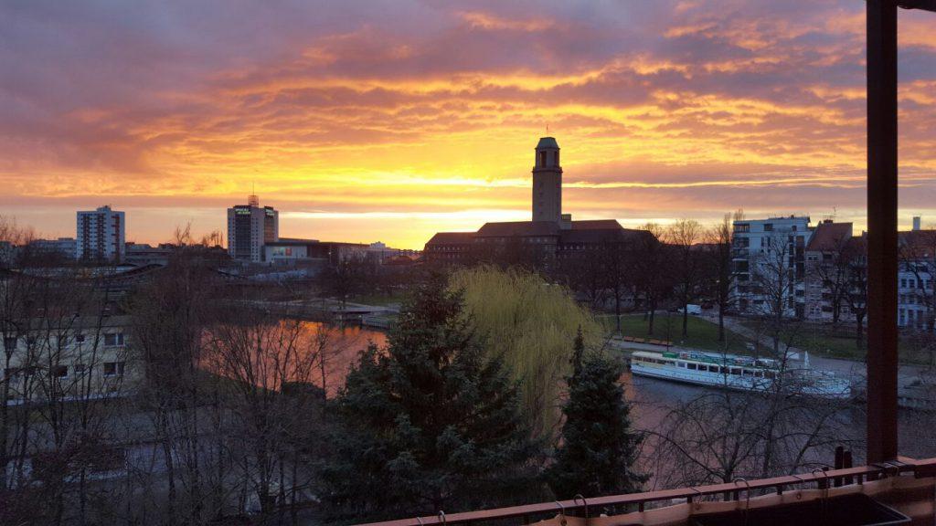 Berlin-Spandau bei Sonnenuntergang